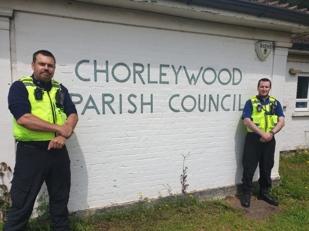 PCSO Allan Waller and PCSO Dean Redhead